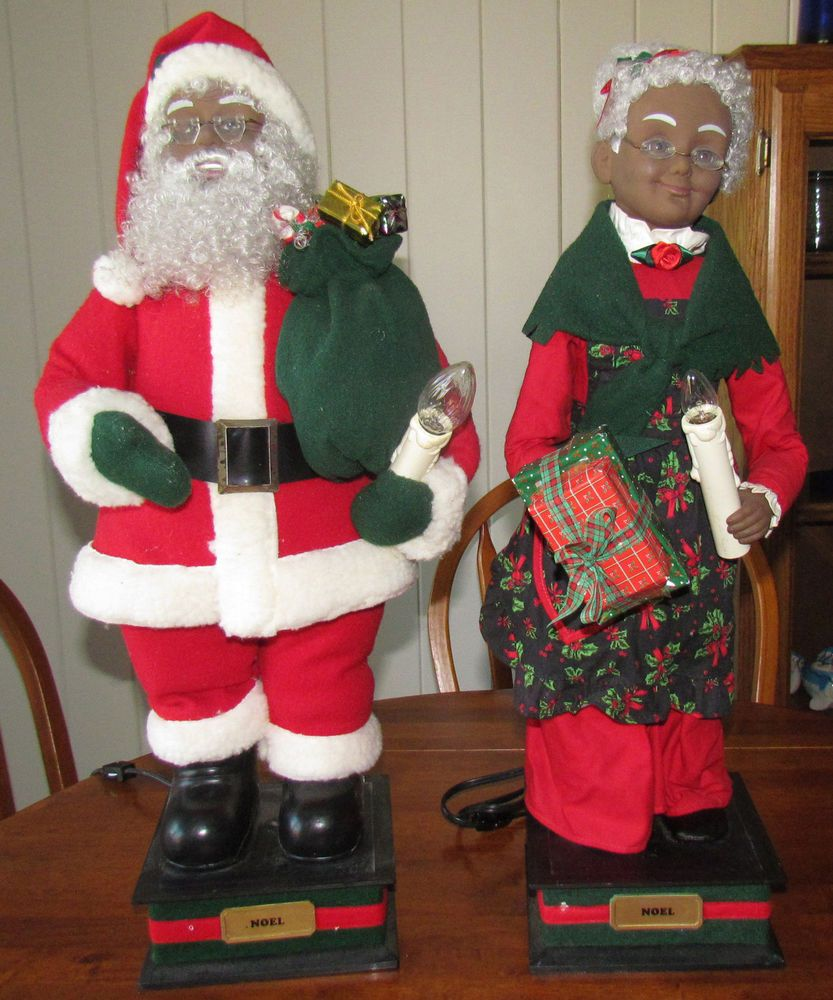 Exceptional Mrs Claus Christmas Decorations Part - 4: Holiday Creations Motion Animated Santa U0026 Mrs. Claus Black African American