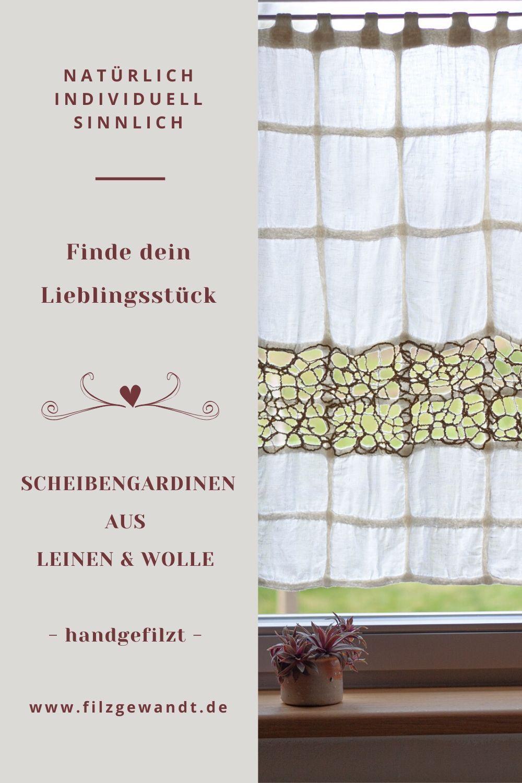 Scheibengardine Ideen Aus Leinen Wolle In 2020 Gardinen Scheibengardine Vorhange Furs Wohnzimmer