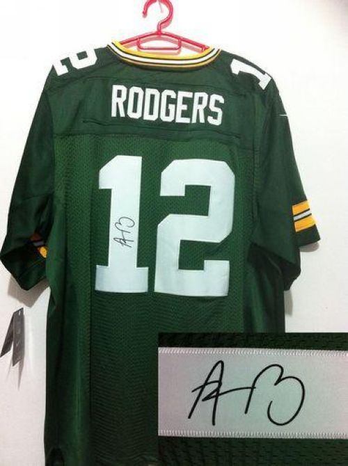 Nike Packers #12 Aaron Rodgers Green Team Color Men's Embroidered NFL Elite Autographed Jersey! Only $25.00USD