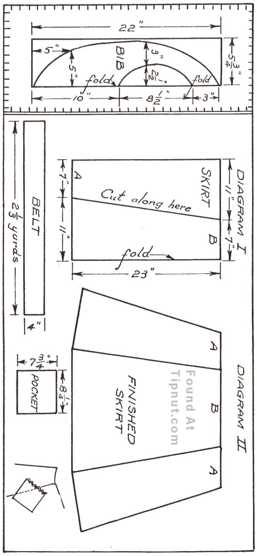 seersucker-apron-pattern.jpg 879×1.901 pixels | manteles ...