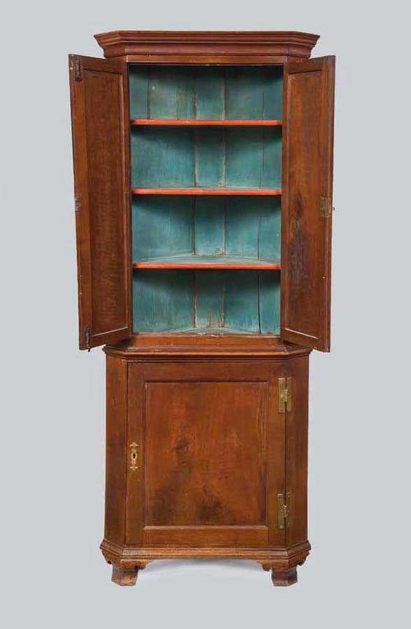 Rare Diminutive Queen Anne Corner Cupboard | Antique Furniture