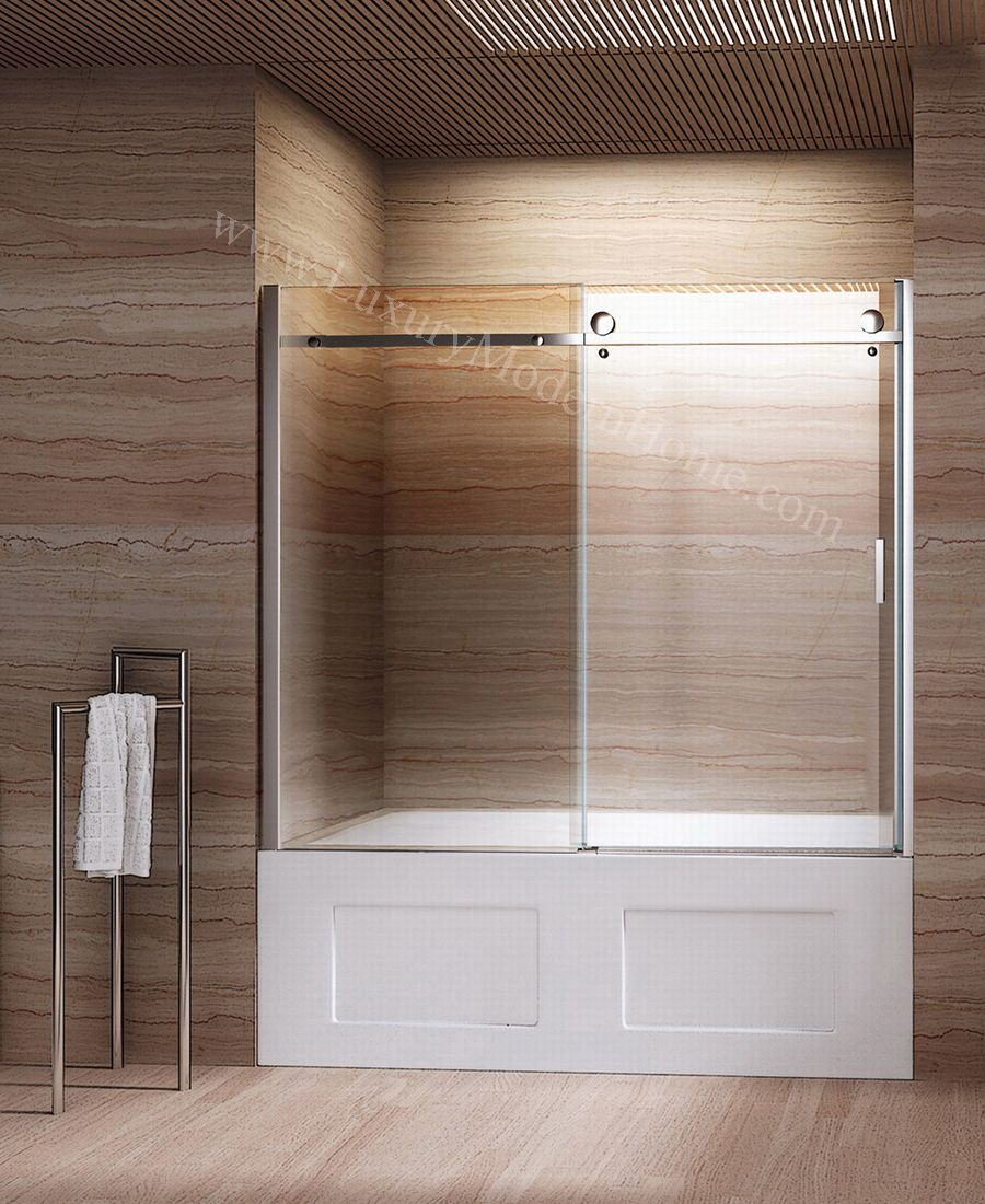 Bathroom shower doors frameless - Bathtub With Sliding Glass Doors Google Search