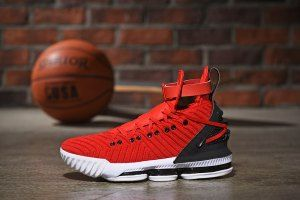 ac45f20bdb2e Mens Nike LeBron 16 HFR Harlem s University Red Black White Basketball Shoes