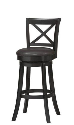 Incredible X Back 30 In Wood Swivel Bar Stool By Linon 223 55 Andrewgaddart Wooden Chair Designs For Living Room Andrewgaddartcom