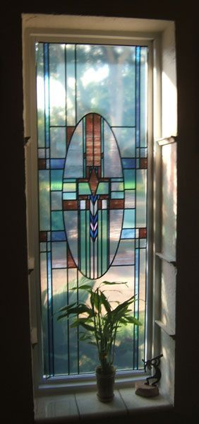 Mission On Glassmate Clear Decorative Window Film Stained Glass