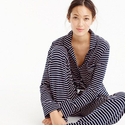 9e05f4be0 Dreamy cotton pajama set in navy/peony stripe | Presents Please ...