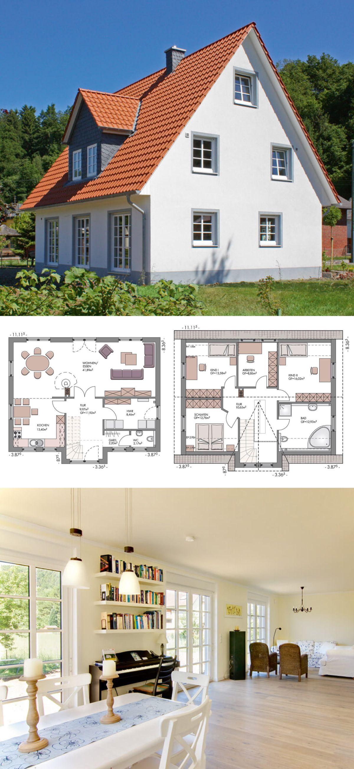 Landhaus Architektur Neubau Mit Satteldach Gaube Einfamilienhaus