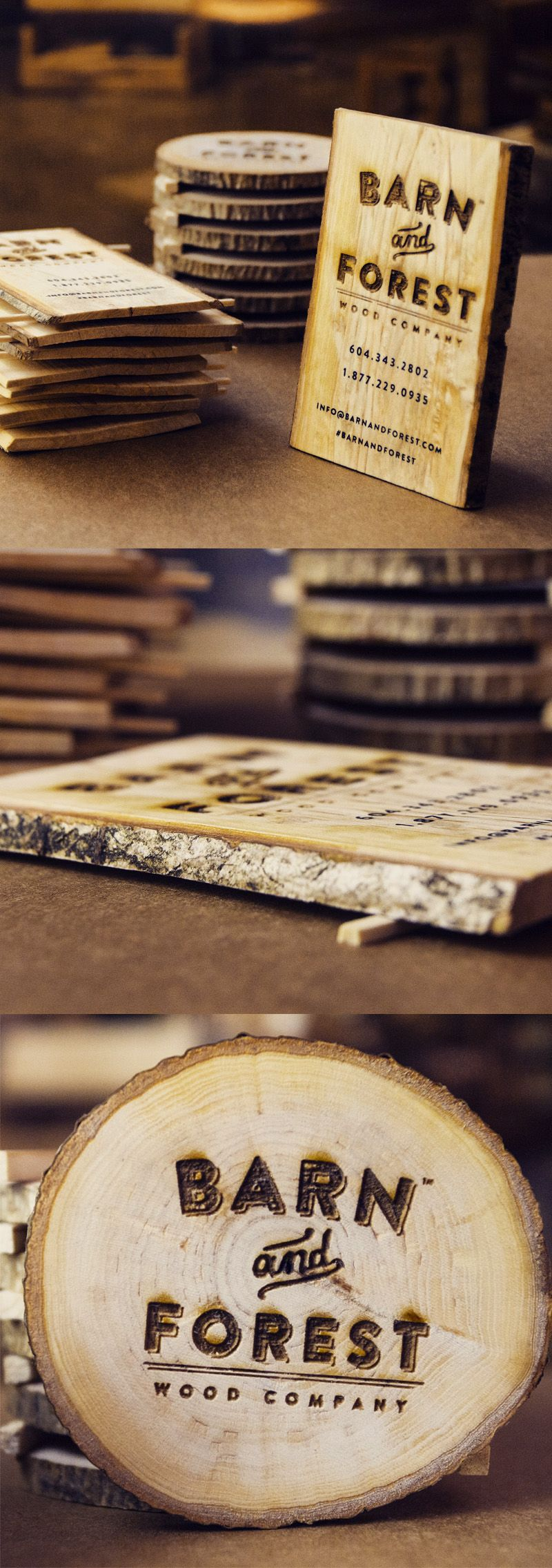 Creative Business Card Design made of Wood | Business Cards ...