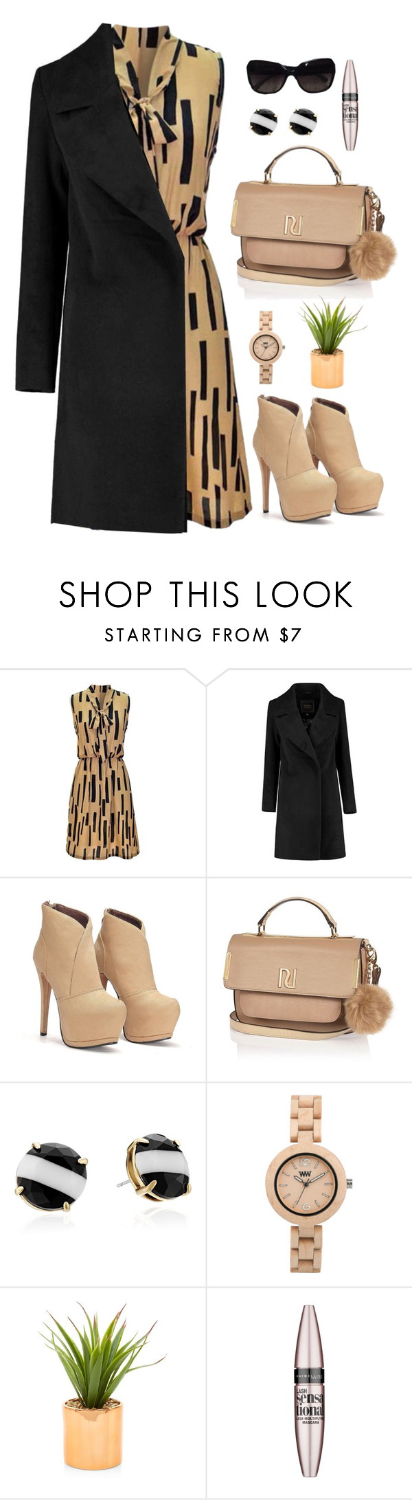 """""""Look 1 02/15/2016"""" by aneetaalex ❤ liked on Polyvore featuring River Island, Kate Spade, WeWood, Maybelline, Chanel, women's clothing, women, female, woman and misses"""