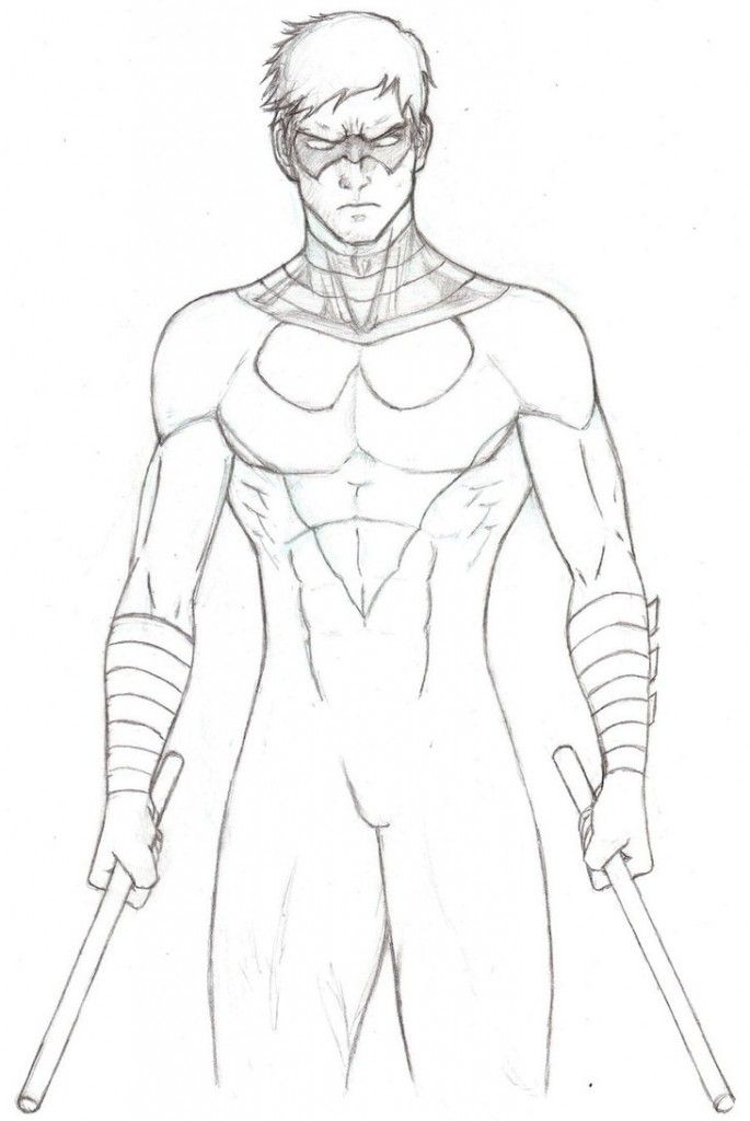 nightwing coloring pages Free Printable Nightwing Coloring Pages For Kids | coloring nightwing coloring pages