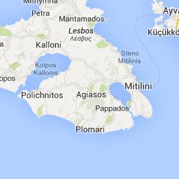 Carte de Lesbos Lesvos map Greece Pinterest Greece islands