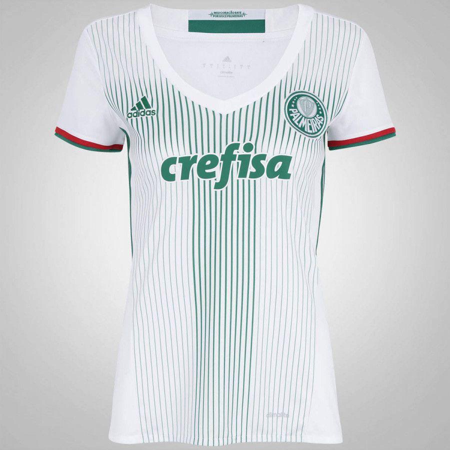 Camisa do Palmeiras -Oferta do Dia!-Camisa do Palmeiras II 2016 adidas -  Feminina-O conforto e a liberdade para vibrar a cada lance em uma Camisa  adidas ... 27557ff17de88