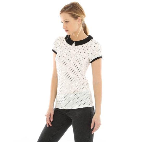 817386c7cf6 T-Shirt mit Bubikragen - T-Shirts-Kollektion - Pimkie Deutschland ...