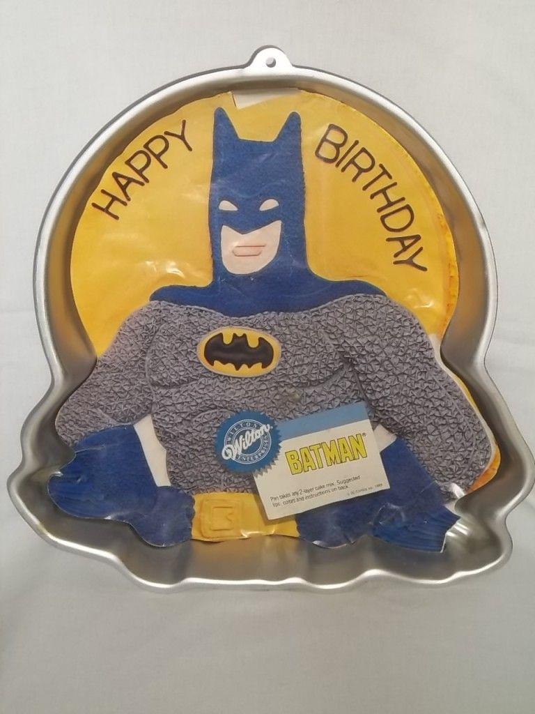 1989 Wilton Batman Cake Pan 2105 6501 Dc Comics Baking Tin Mold Bat