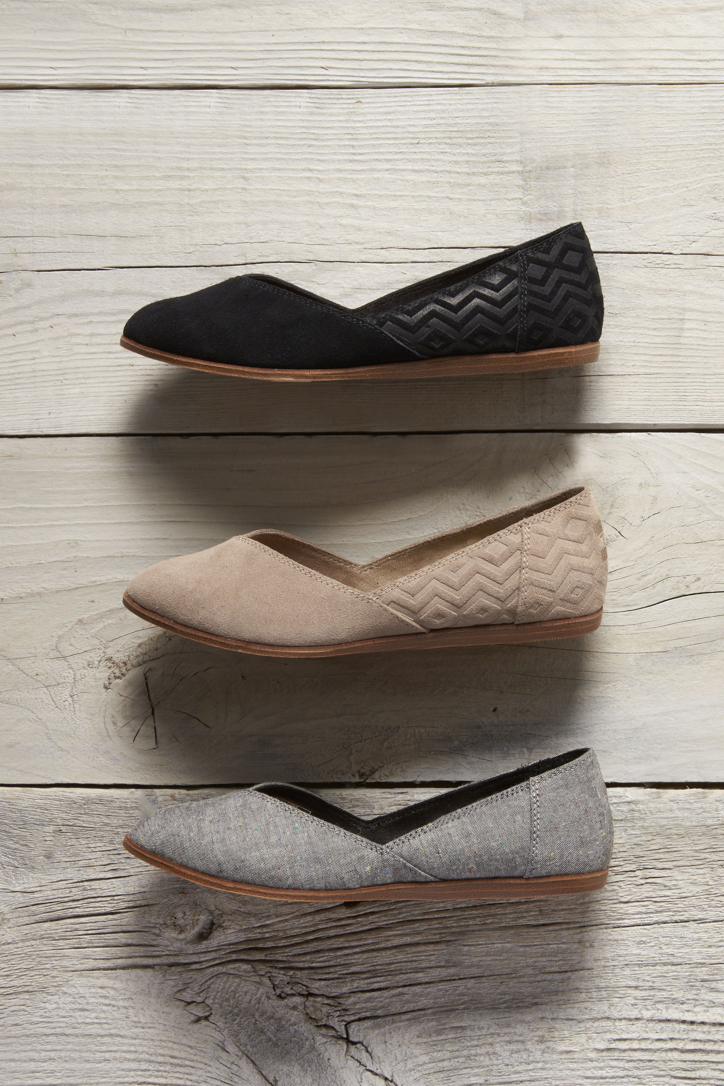 shoe trend teens Embossed, suede, chambray and more. Click to Shop TOMS Jutti Flats.