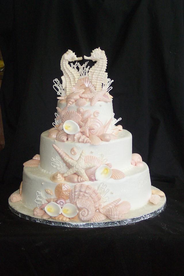 Seashellfavors Beach Theme Wedding Cakes Beach Wedding Cake Beach Cakes