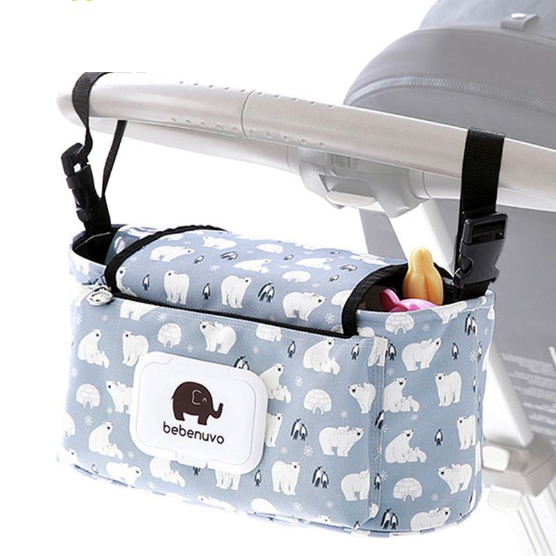 NEW Cup Holder Organizer Bag to fit MOUNTAIN BUGGY strollers Blue Grey Black