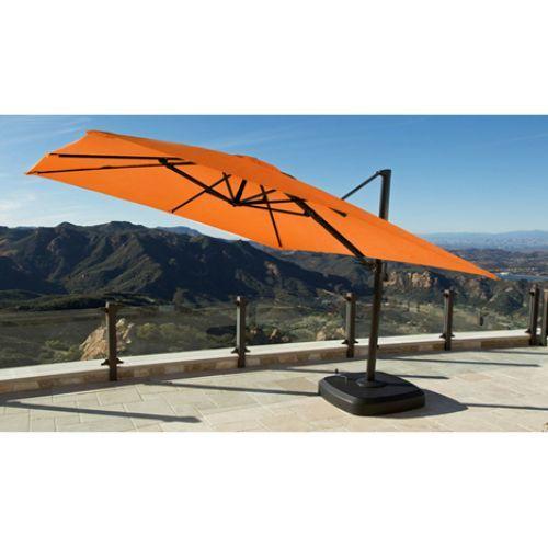 Costco 1049 99 Portofino Resort Full Motion Umbrella Sunbrella Spectrum Cayenne Outdoor Umbrella Sunbrella Patio Cantilever Patio Umbrella