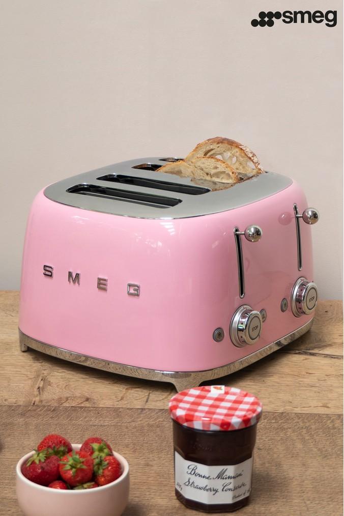 Smeg 4 Slot Toaster 4 slot toaster, Toaster, Pink toaster