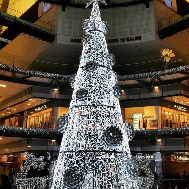 Las Arenas Christmas tree - Barcelona, Spain