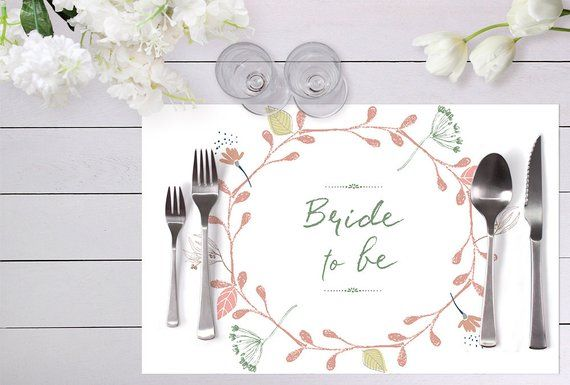 Digital Download Disposable Placemat Printable Placemat Placemat Bridal Shower Placemat Bridal Bridal Shower Wedding Costs Placemats