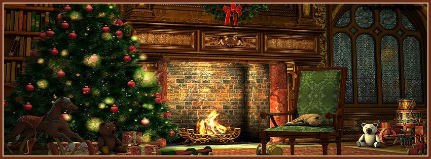 Christmas Scene Facebook Covers Christmas Scene Fb Covers Christmas Scene Facebook Timel Christmas Tree And Fireplace Christmas Fireplace Christmas Backdrops