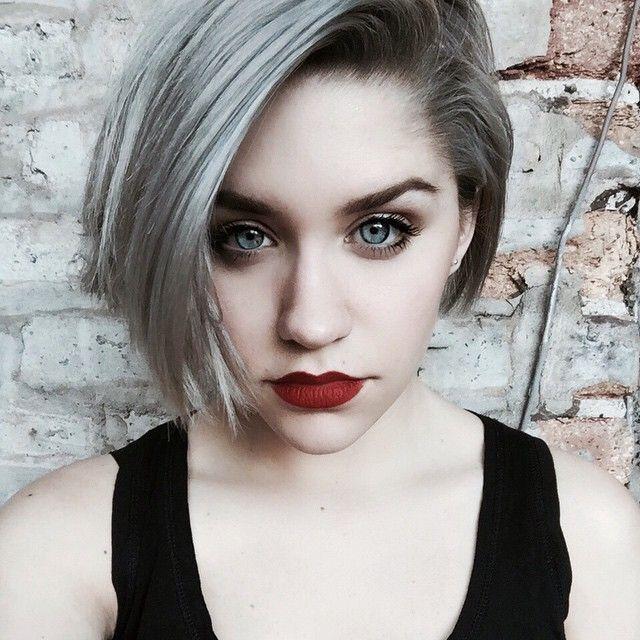 Short Silver Hair Google Search