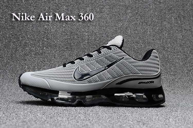 the best attitude 033f5 653c3 Nike AIR MAX 360 Men Grey Black