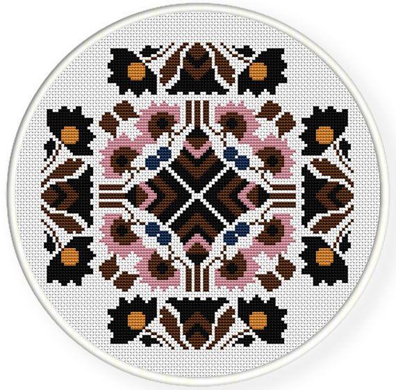 Cross stitch pattern, Cross-Stitch PDF, vintage chinese folk,old ...