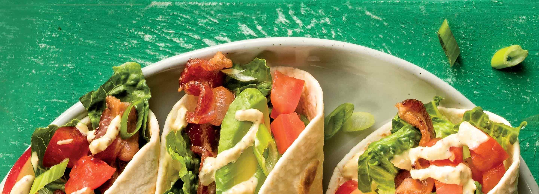 Blt tacos recipe in 2020 recipes tacos cooking recipes
