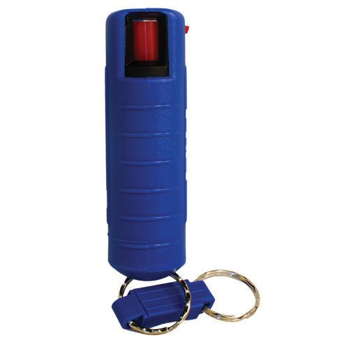 Personal Pepper Spray Blue Injection Molded Holster Quick Key - key release form