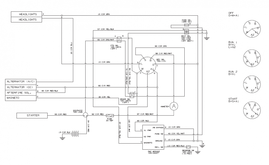 Small Engine Ignition Switch Wiring Diagram In 2020