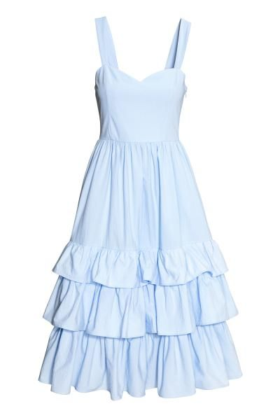 23302ca95 Vestido en popelina de algodón con tirantes