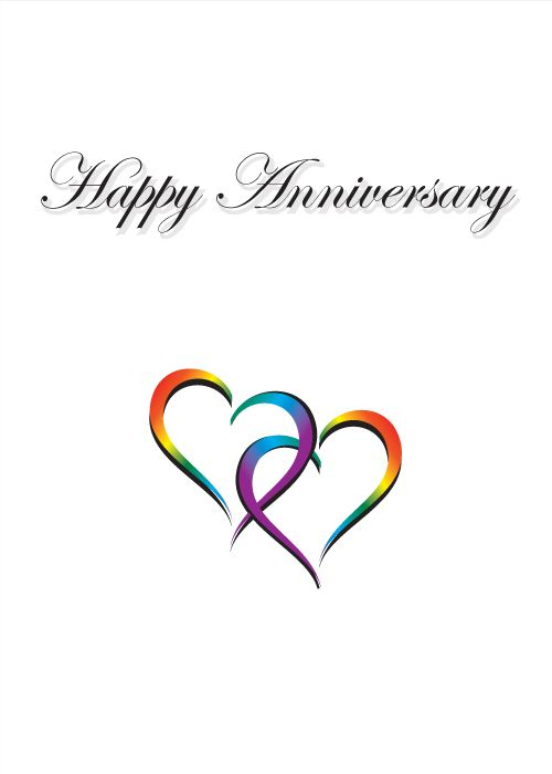 Happy Anniversary - Two Hearts entwined visit - www.LoudandProudGreetingCards.Com