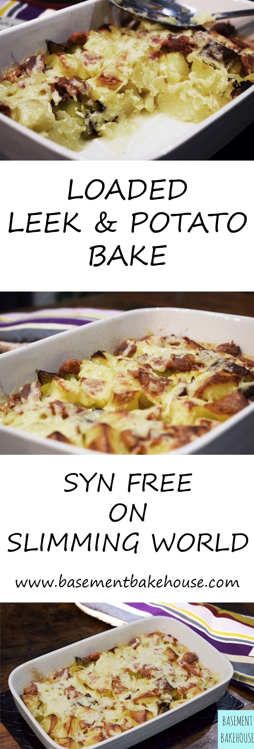 Syn Free Loaded Leek Potato Bake Cheese Bacon