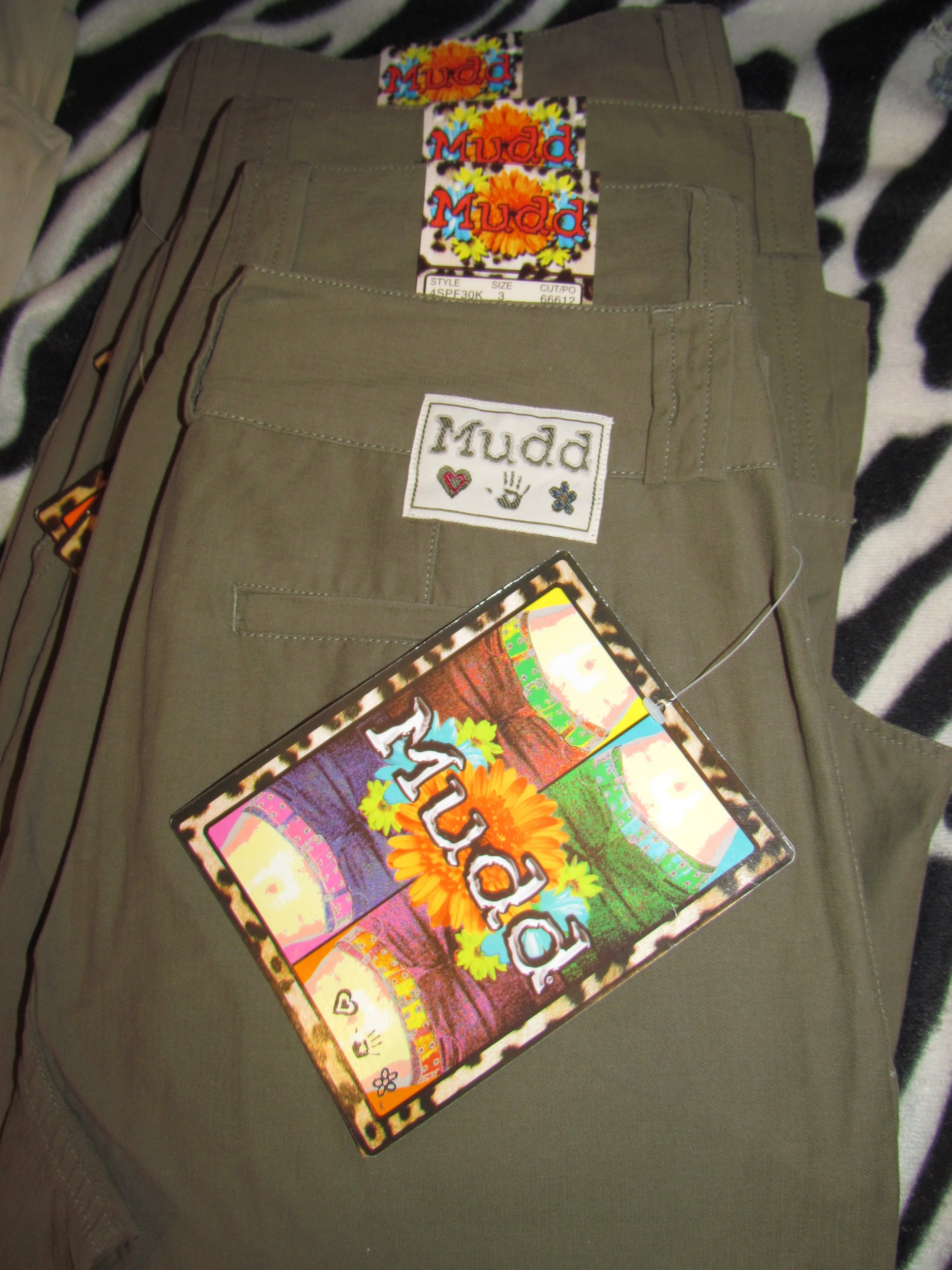MUDD Zip-Fly, No Pleat w/Pockets Olive Sizes 3 & 13