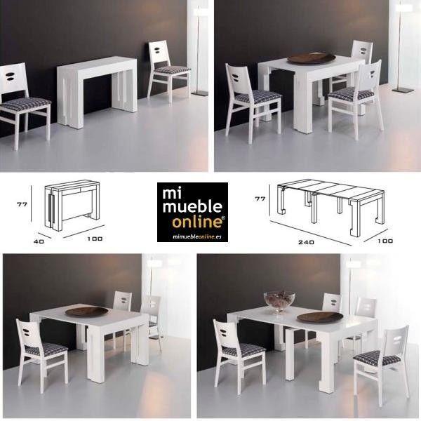 Resultado de imagen de mesa estrecha comedor mini casas for Mesa cocina extensible ikea