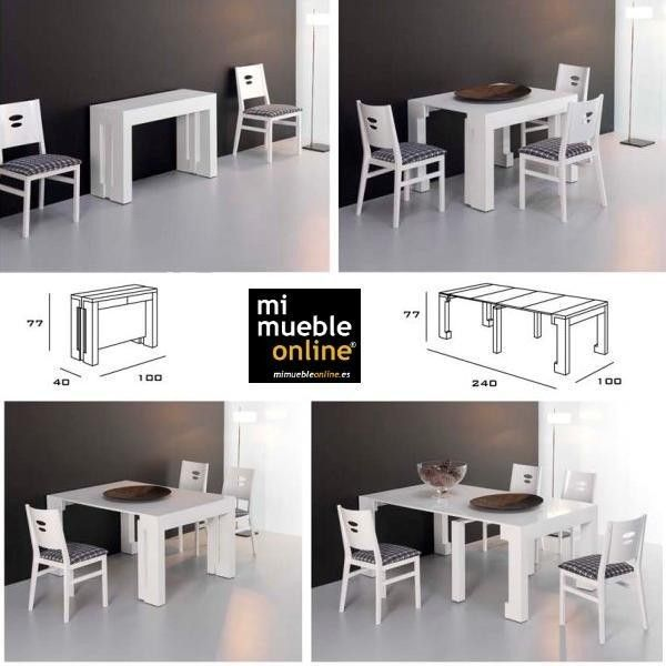 resultado de imagen de mesa estrecha comedor mini casas On mesa plegable extensible