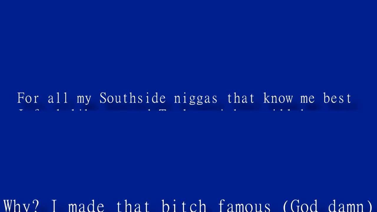 Kanye West Famous Official Lyric Video Kanye West Famous Song Lyrics Famous Song Lyrics