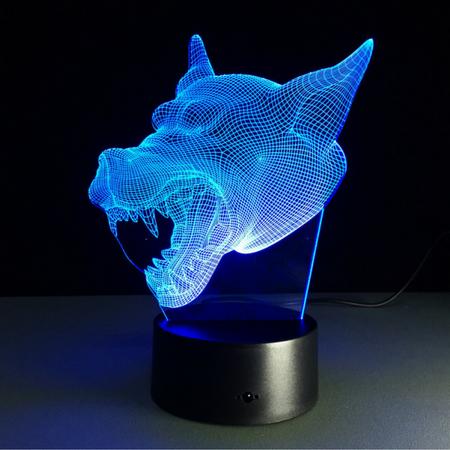 3d Wolf Led Lamp Night Light Led Night Light Color Changing Led