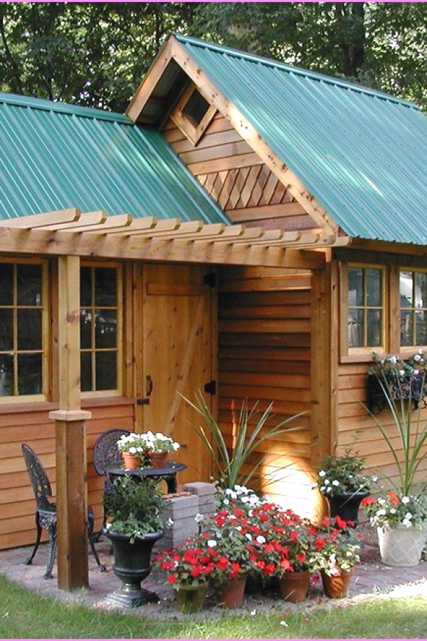 Simple Garden Shed transformation ideas for your garden outdoor - Potting Shed Designs