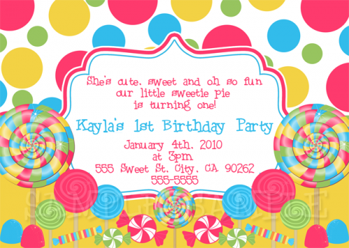 Candyland Invitation Itsapartee Digital Art On Artfire