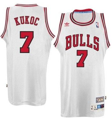chicago bulls 7 toni kukoc white swingman throwback jersey