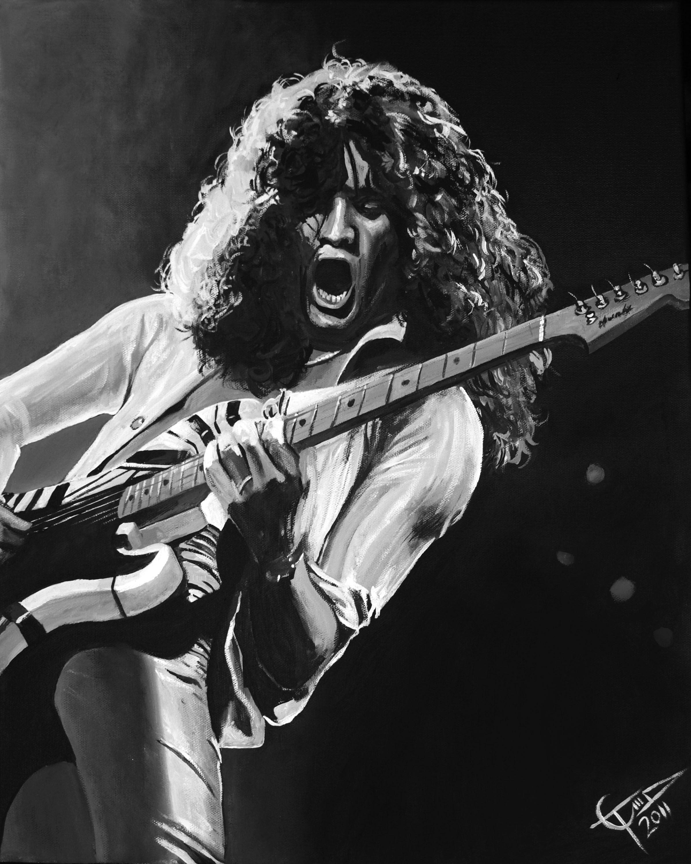 Eddie Van Halen Bw Eddie Halen Van In 2020 Eddie Van Halen Van Halen Guitar Senior Pictures