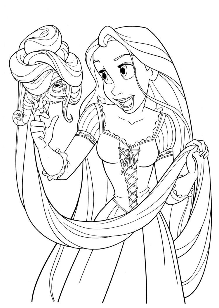 Pascal Gets A Silly Hairstyle Coloring Pages Coloring