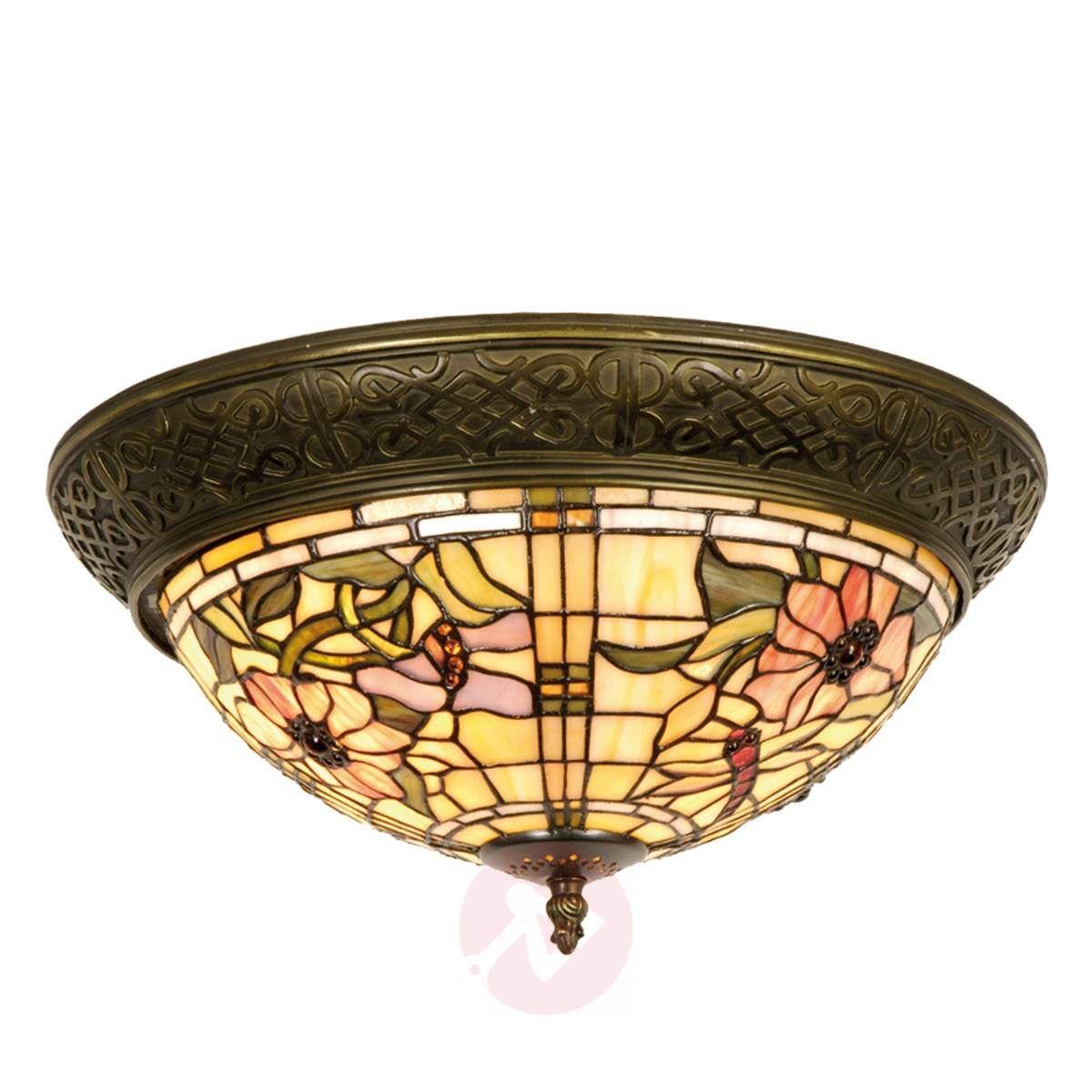 Mira Lampa Sufitowa W Stylu Tiffany W 2019 Lampy