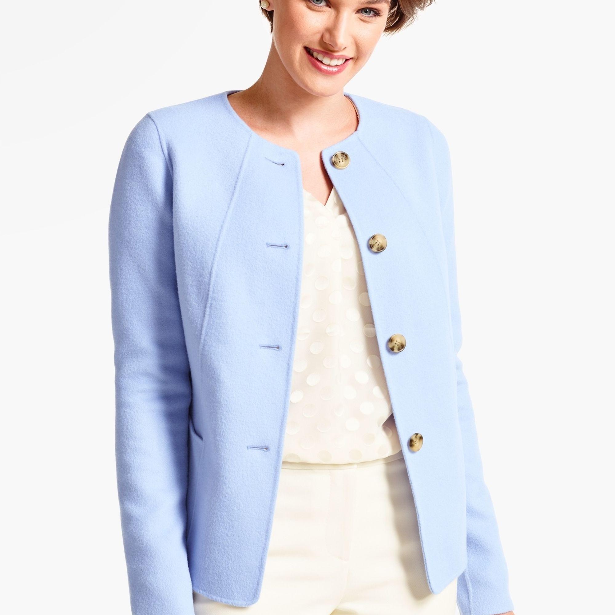 Talbots Double Face Jacket Clothes Wool Blend Jacket Boiled Wool Jacket [ 2000 x 2000 Pixel ]
