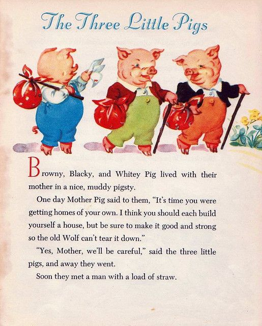 The Three Little Pigs A Photo On Flickriver Nursery Rhymes Poems Nursery Rhymes Lyrics Little Pigs