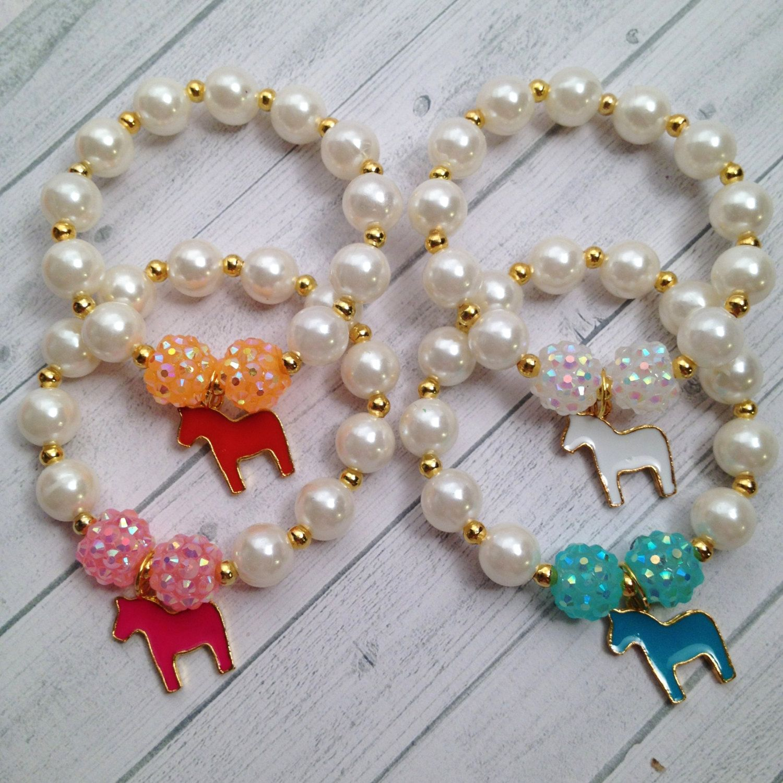 8 equestrian horse charm bracelet equestrian birthday or slumber