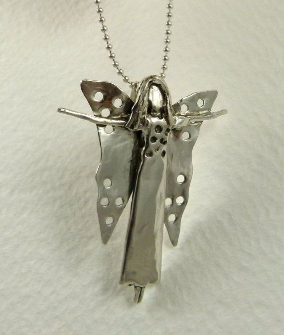 Fairy Indigo Is Open - Up Cycled Sterling Silver And PMC